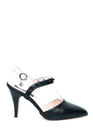 Kuum İnce Topuklu Sivri Burun Ayakkabı Siyah